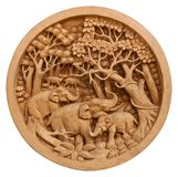 Carved Thai elephant Stock Image