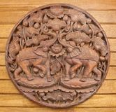 Carved Thai elephant Royalty Free Stock Image