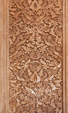 Carved tile in Alhambra palace, Granada, Spain Stock Photography