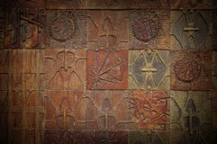 Carved tiles Stock Photo