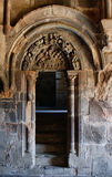 Carved tympanum in the monastery of Carracedo. Spain Royalty Free Stock Image