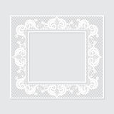 Carved vintage frame made of paper for picture or photo Stock Image
