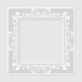 Carved vintage frame made of paper for picture or photo Royalty Free Stock Image