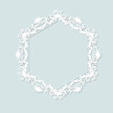 Carved vintage frame made of paper for picture or photo Royalty Free Stock Photo