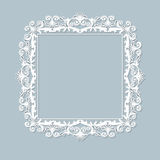 Carved vintage frame made of paper for picture or photo Royalty Free Stock Images