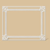 Carved vintage frame made of paper Royalty Free Stock Image