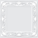 Carved vintage frame made of paper for picture or photo Stock Images
