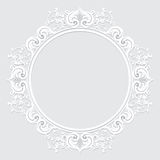 Carved vintage frame made of paper for picture or photo Royalty Free Stock Photos
