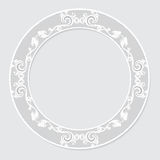 Carved vintage frame made of paper for picture or photo Stock Photos