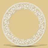 Carved vintage frame made of paper with shadow Royalty Free Stock Photography