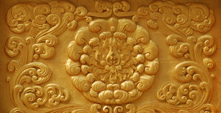 Carved wall Stock Photo