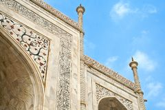 Carved wall of Taj mahal Stock Images