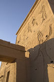 Carved wall of the Temple  Philae Egypt) Royalty Free Stock Image