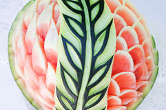Carved watermelon Stock Images