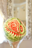 Carved watermelon. On wedding table Royalty Free Stock Images
