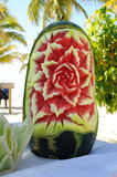 Carved Watermelon Stock Photography
