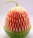 Carved watermelon. Beautiful artistic Carved watermelon fruits Stock Images