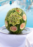 Carved watermelon Stock Photo