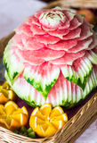 Carved watermelon Stock Photos