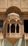 Carved window in Mandir Palace, Jaisalmer, Rajasthan, India Stock Photos