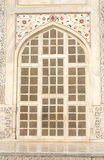 Carved window and mosaic on marble, Taj Mahal, India Stock Photos