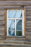 Carved window in old National russian wooden  house Stock Photography