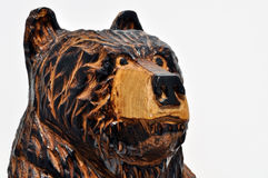 Carved Wood Brown Bear Stock Photography