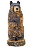 Carved Wood Brown Bear: Full Stock Photo
