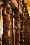 Carved wood cherub statues Royalty Free Stock Photos