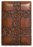 Carved wood decorative floral panel Stock Photography