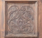 Carved wood detail Stock Photography