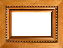 Carved wood frame. Intricately carved alder wood frame with twisted rope detailing Royalty Free Stock Photography