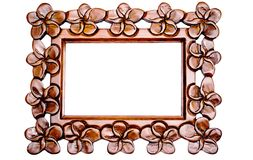 Carved Wood Frame. An intricately carved wooden frame Stock Image