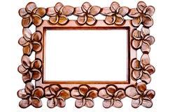 Carved Wood Frame stock image