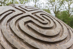 Carved Wood Pattern Royalty Free Stock Images