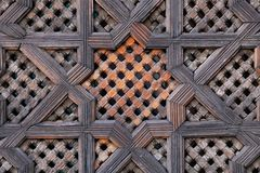 Carved Wood Screen In Morocco Royalty Free Stock Images