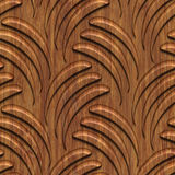 Carved wood seamless texture Stock Images