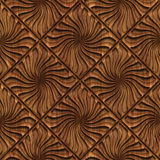 Carved wood seamless texture. Carved pattern on wood background seamless texture, 3d illustration Stock Photo