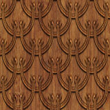 Carved wood seamless texture. Carved pattern on wood background seamless texture, 3d illustration Royalty Free Stock Photography