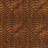 Carved wood seamless texture. Carved pattern on wood background seamless texture, 3d illustration Stock Image