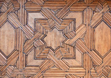 Carved wood with star stock photos