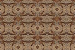 Carved wood wall close Royalty Free Stock Photo
