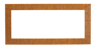 Carved Wooded Frame (with clipping path) Stock Photo