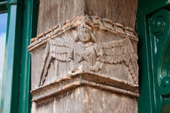 Carved Wooden Angel Stock Photos
