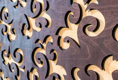 Carved wooden background Royalty Free Stock Photos