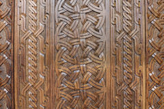 Carved wooden background Stock Photography