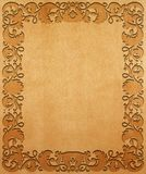 Carved wooden background. Royalty Free Stock Photos