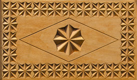 Carved wooden box background Stock Images