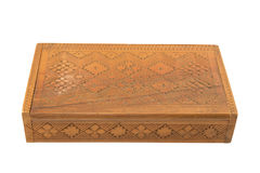 Carved wooden box Royalty Free Stock Photos