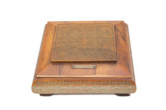 Carved wooden box Royalty Free Stock Photo